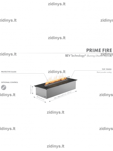 Biožidinio degiklis PLANIKA Prime Fire 700 6