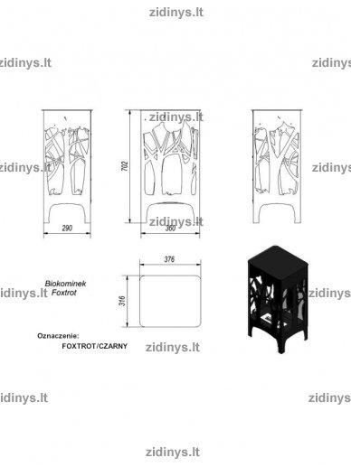 Biožidinys KRATKI Foxtrot /Juodas/LED 5