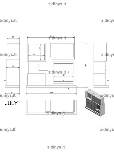 Biožidinys KRATKI July /Baltas 4