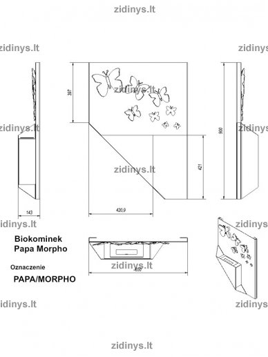Biožidinys KRATKI Papa /Morpho/Juodas 4