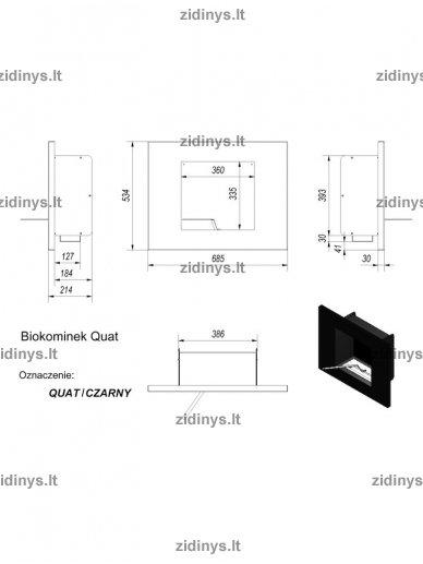 Biožidinys KRATKI Quat /Juodas/Vertikalus 3