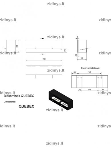 Biožidinys KRATKI Quebec /Juodas 4