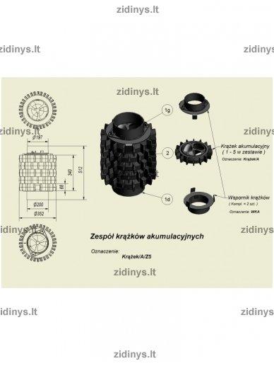 Dūmtraukio akumuliaciniai žiedai KRATKI A/Z5 5