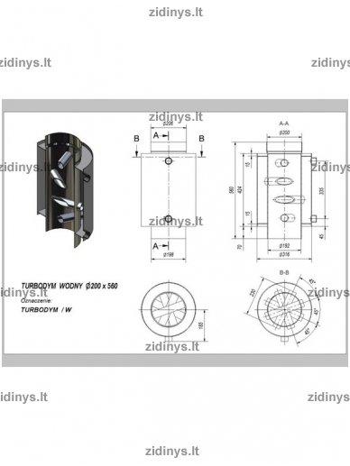 Dūmtraukio boileris KRATKI Turbodym/W 3