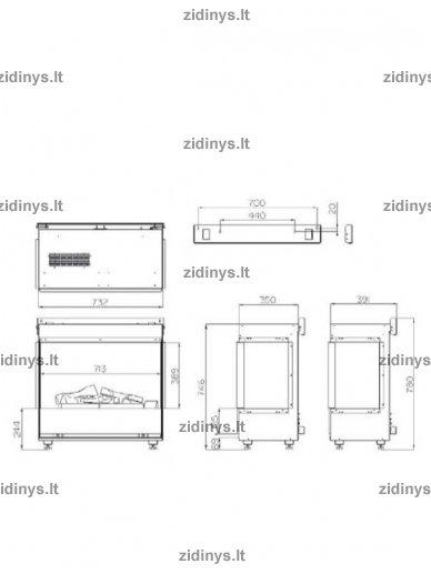 Elektrinio židinio kasetė DIMPLEX Opti-myst Bingham 2