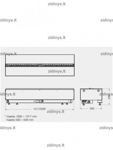 Elektrinio židinio kasetė DIMPLEX Opti-myst 1000 LED 2