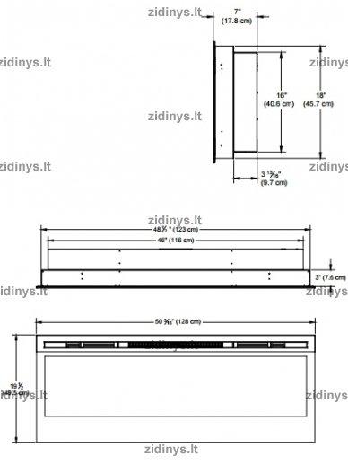 """Elektrinio židinio kasetė DIMPLEX Prism 50"""" LED 5"""