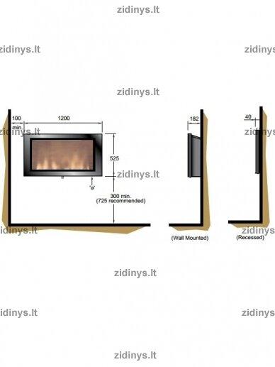Elektrinio židinio kasetė DIMPLEX SP 16 LED 3