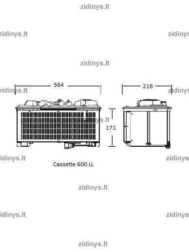 Elektrinis židinys DIMPLEX Opti-myst ZEN 9