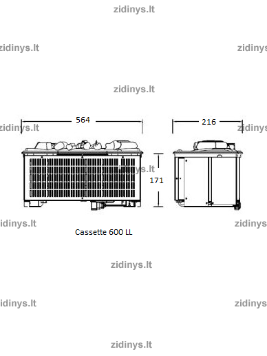 Elektrinis židinys DIMPLEX Opti-myst ZEN beton 9