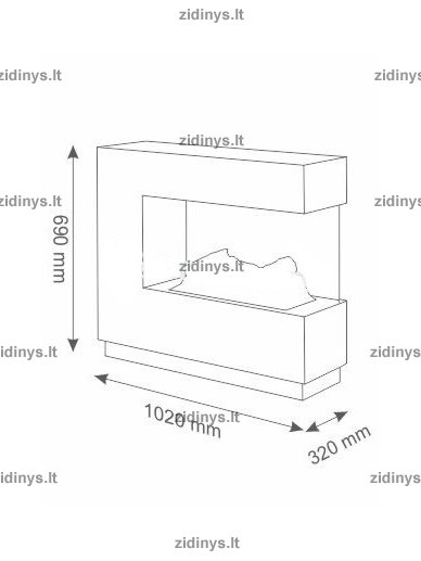 Elektrinis židinys DIMPLEX Opti-myst ZEN beton 8