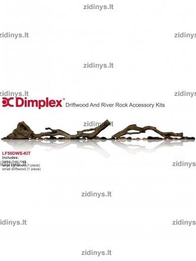 Elektrinių židinių DIMPLEX dekoratyvinių malkų rinkinys 74 3