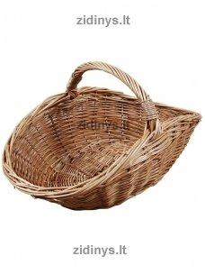 Pintas malkų krepšys šviesus ovalus
