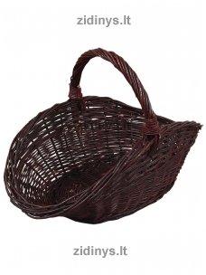 Pintas malkų krepšys tamsus ovalus