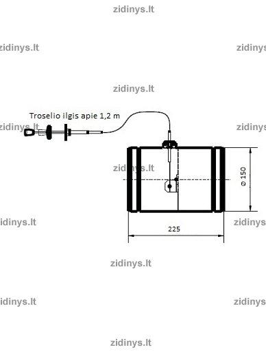 Sklendė su troseliu ir silikonine tarpine KRATKI P150 2