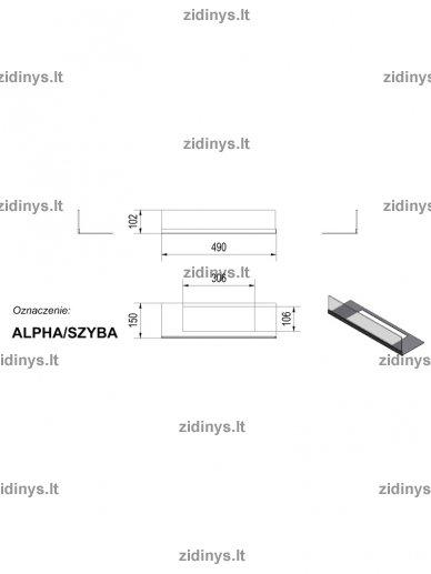 Stiklas biožidiniui Kratki Alpha 3