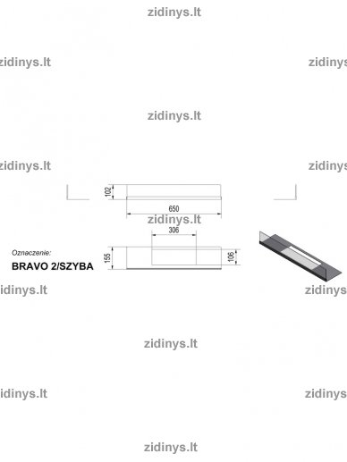 Stiklas biožidiniui Kratki Bravo 2 3