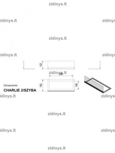 Stiklas biožidiniui Kratki Charlie 2 3
