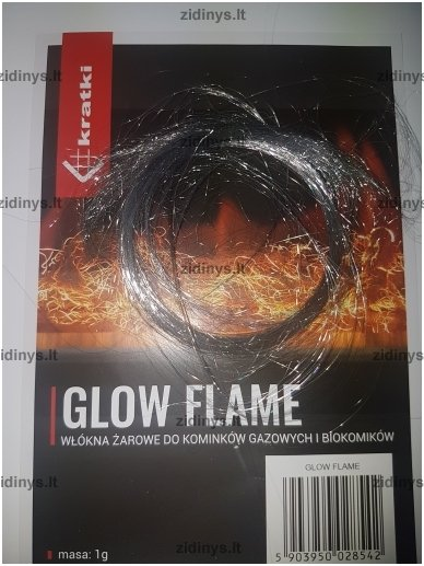 Žarijų imitacijos plaušas KRATKI Glow Flame 4