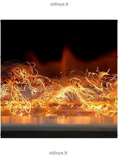 Žarijų imitacijos plaušas KRATKI Glow Flame 2