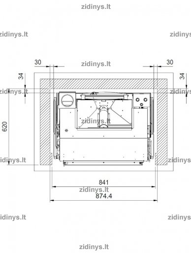 Židinys EXTRAFLAME Comfort Idro L80 2