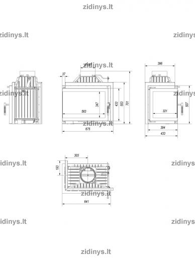Židinys KRATKI Simple M/S 8 L/BS 5